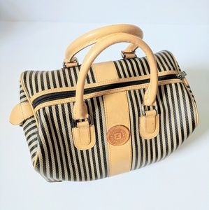 Vintage FENDI | Pinstripe Bowler Bag